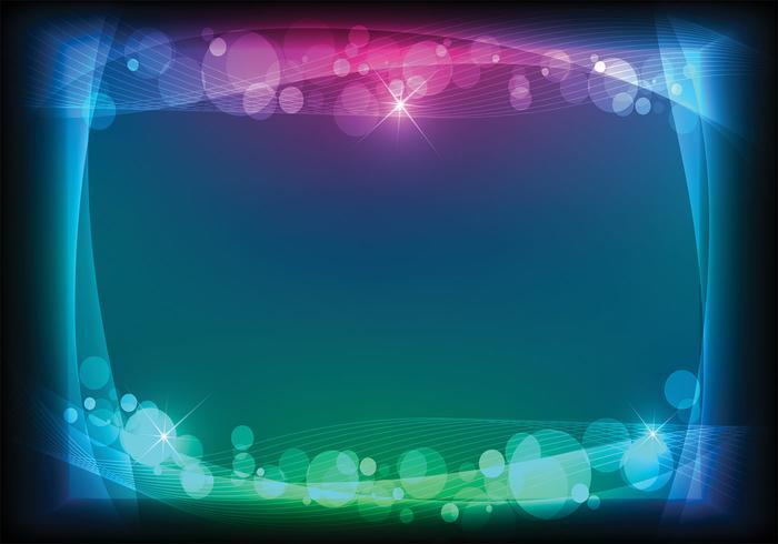 Astonishing Abstract Lights Blue Black Disco Background