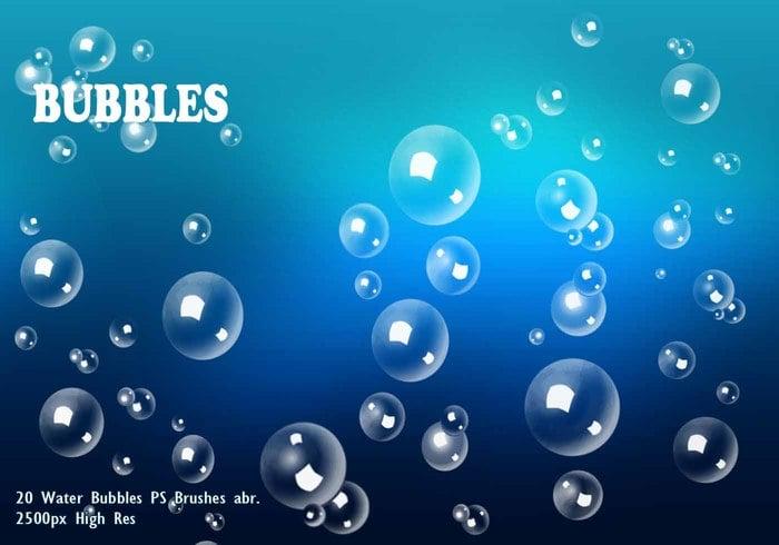 water bubbles ps pinceles