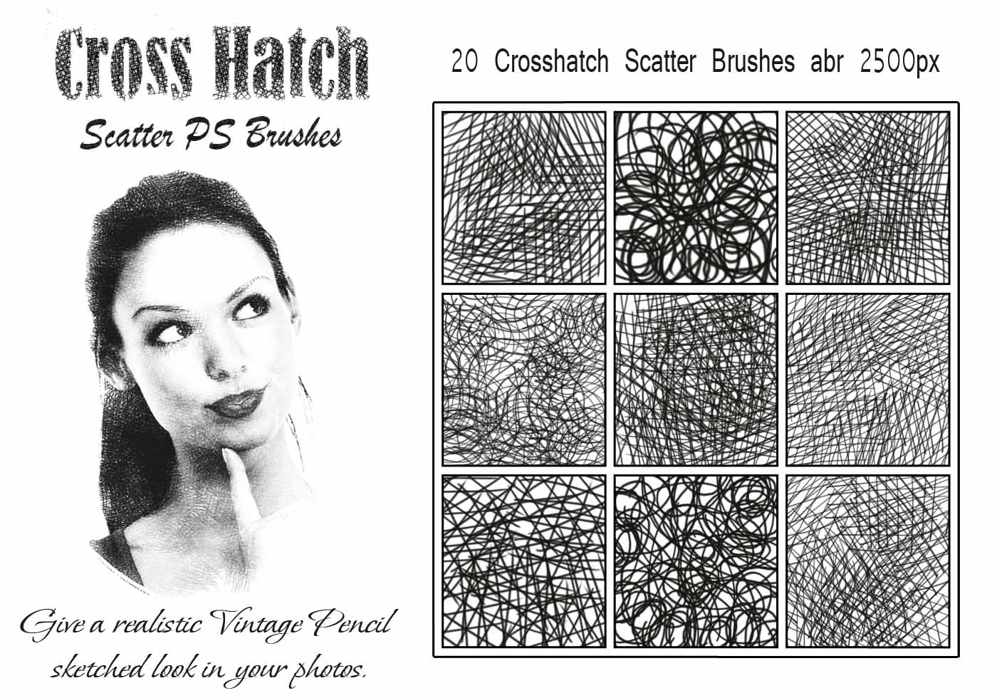 20 Cross Hatch Scatter Ps Brushes Abr