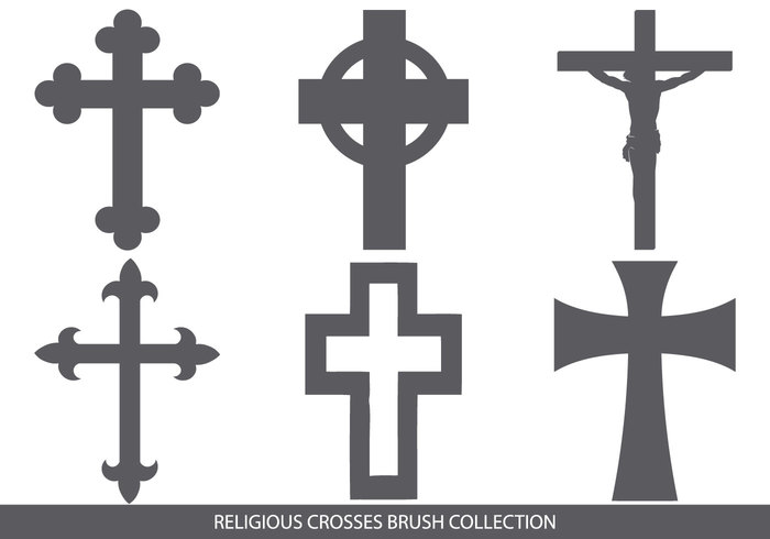 Religious Cross Brush Collection  Free Photoshop Brushes