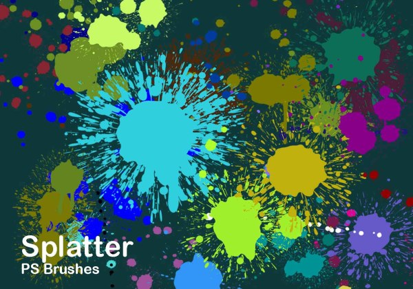 Splatter Color Ps Brushes Abr Vol.2 - Free Brusheezy
