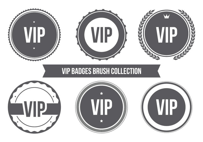 vip badge brush collection