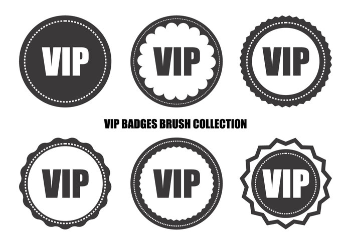 vip retro badge brush