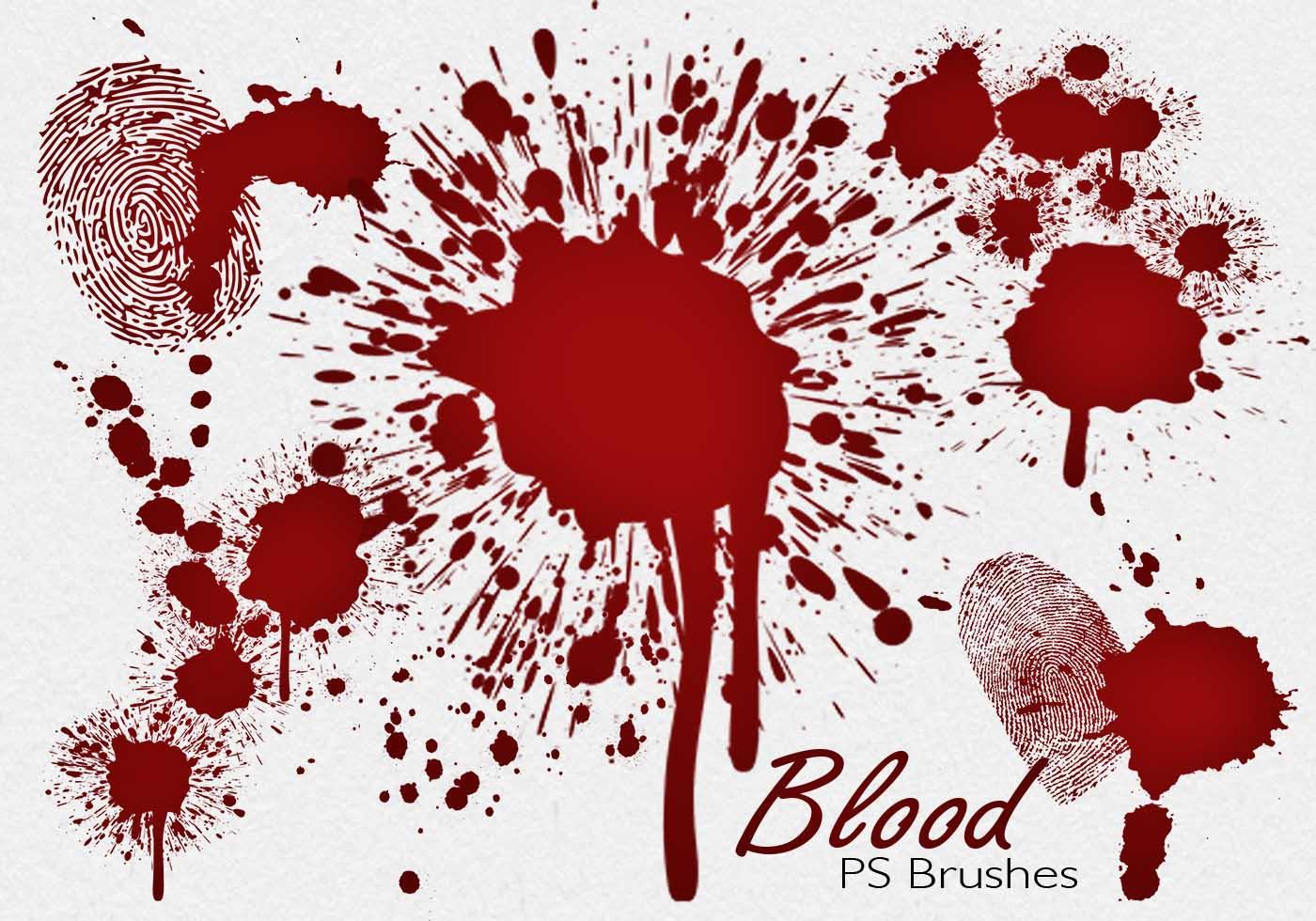 20 Blood Splatter Ps Brushes Abr Vol 7