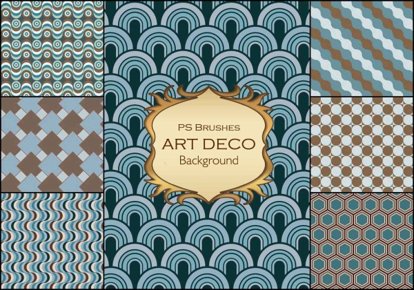 Art Deco Background Ps Brushes.abr Vol.2 - Free
