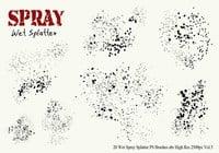 20 Wet spray salpicadura de PS Brushes Vol.5