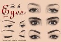 20 Ojos Femeninos Ps Cepillos ABR Vol 4