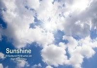 20 Sunburst PS Brushes ABR Vol.1