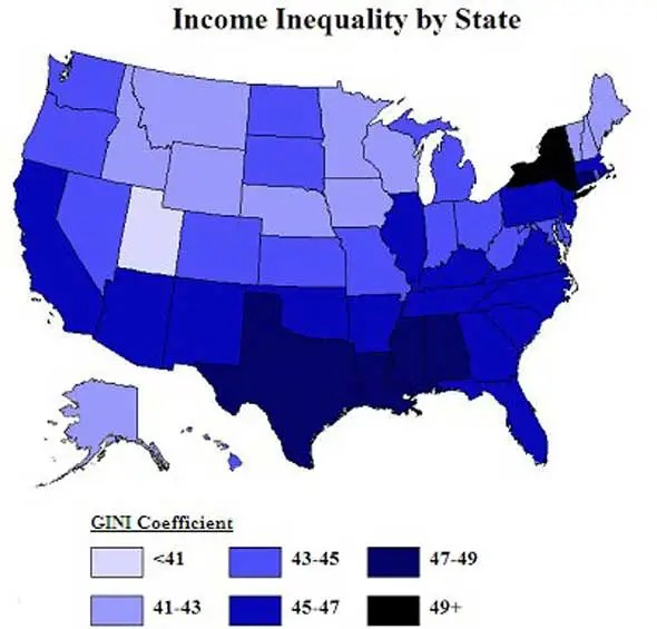 Inequality is worst around Wall Street and Oil Land