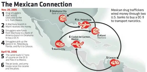 mexican drug gang infographic