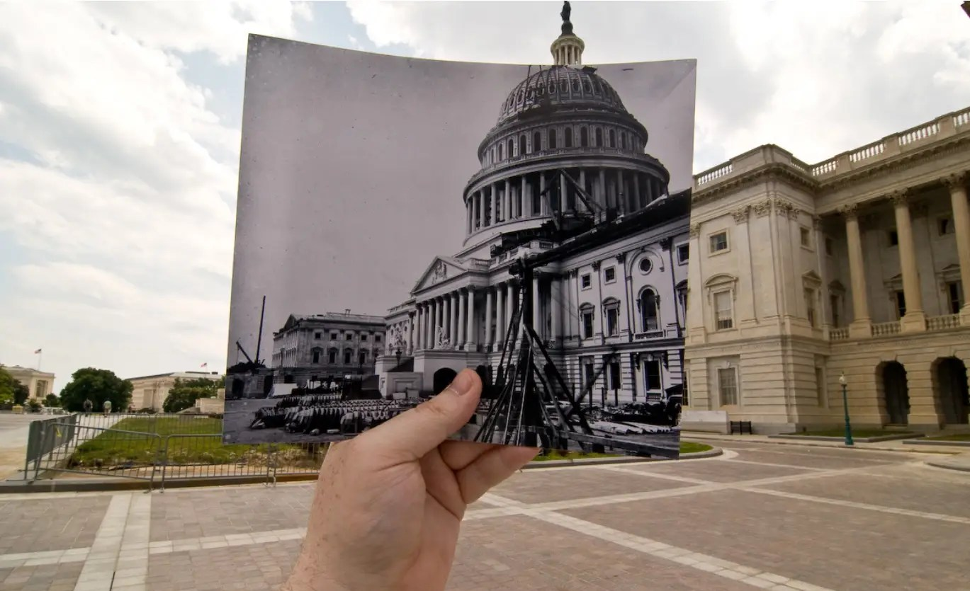 US Capitol Under Construction, Washington, DC