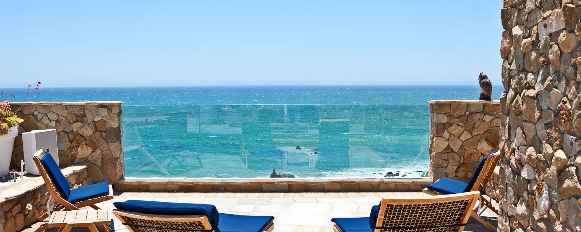 Enjoy some down time on the patio, the view is just one of the perks that comes with buying a $26 million home.