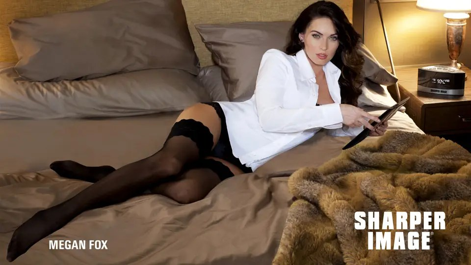 Megan Fox In Lingerie Is The New Face Of Sharper Image