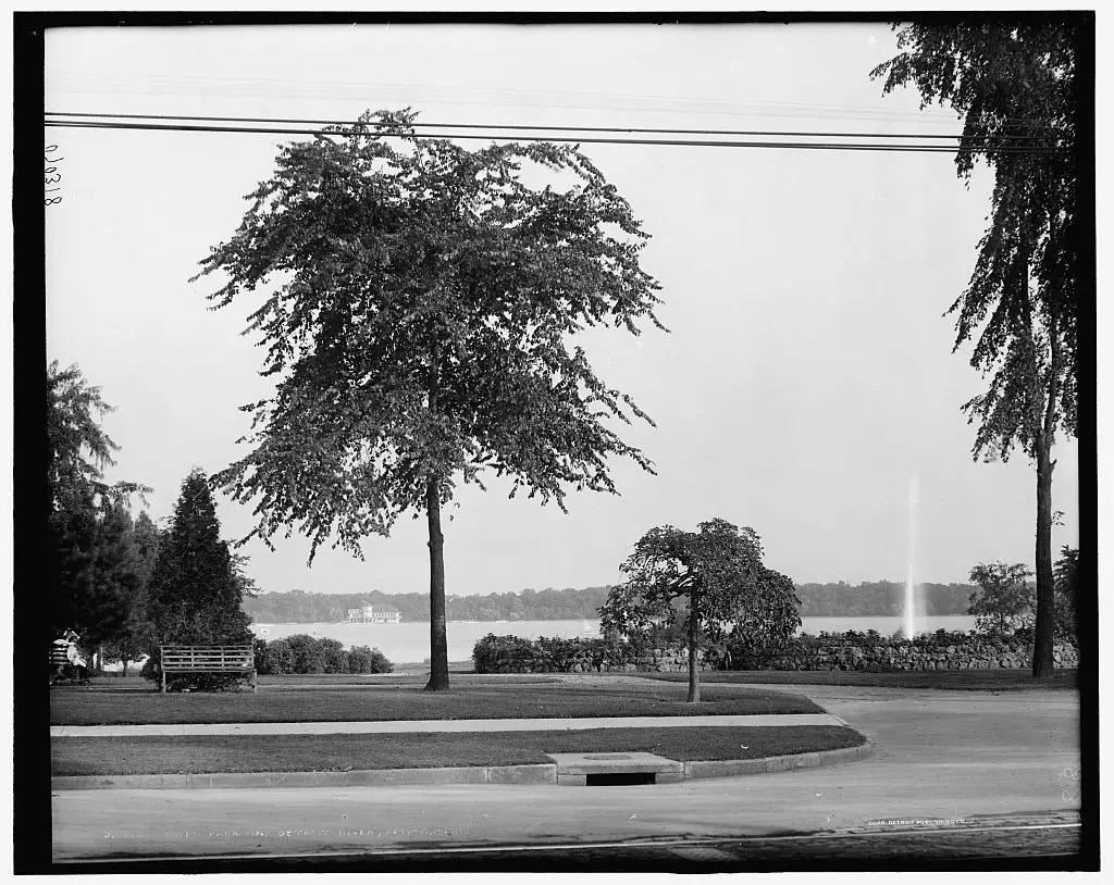 OWEN PARK: A nice view of the Detroit River awaits you from Owen Park. This shot was taken in 1908.