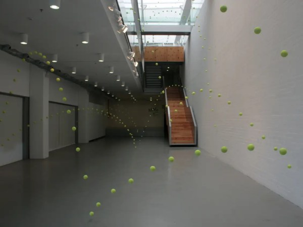 Check Awesome Tennis Balls Art Installation In