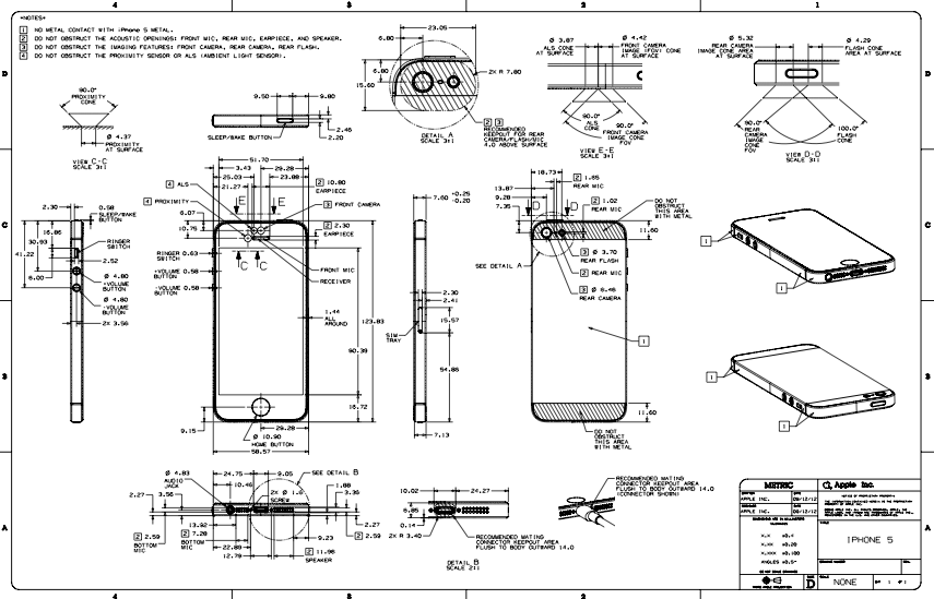 iphone 5 internal parts diagram