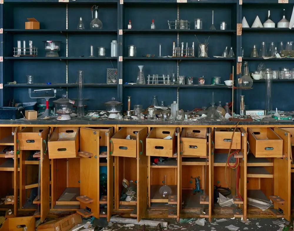 Chemistry lab, former Cass Technical High School building, 2009