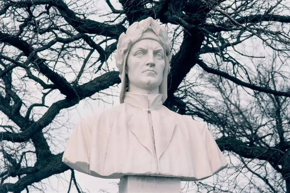 Sculpture of Dante Alighieri, Central Avenue at Vista Drive, 2009