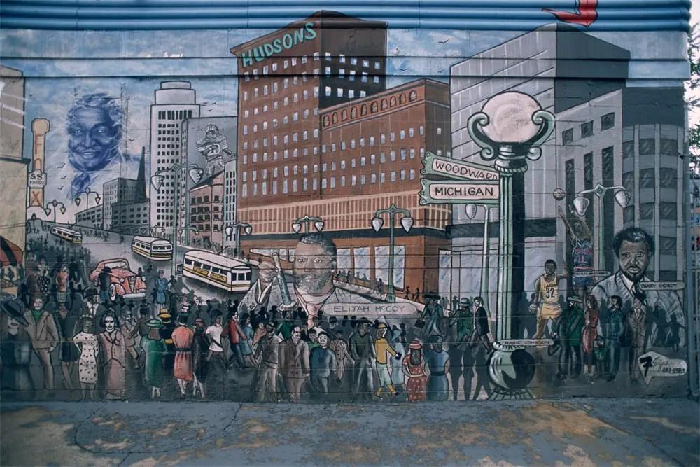 Detroit Mural by Bernard Belafonte, Eastside Check Cashing, 2011