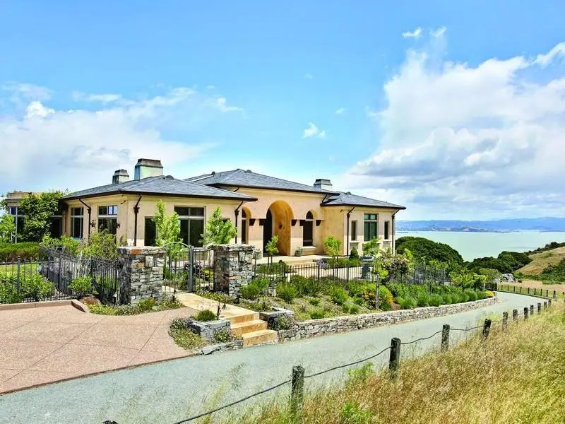 A $5.8 million Tiburon, Calif. ranch that was custom-built in 2002 contains eco-friendly materials and technology.