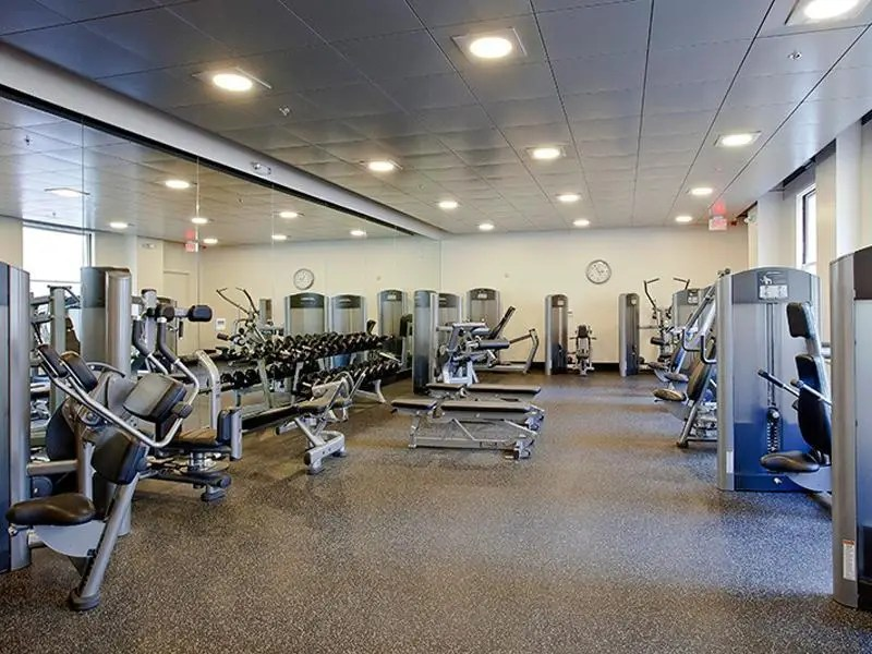 You also have access to the hotel's gym.