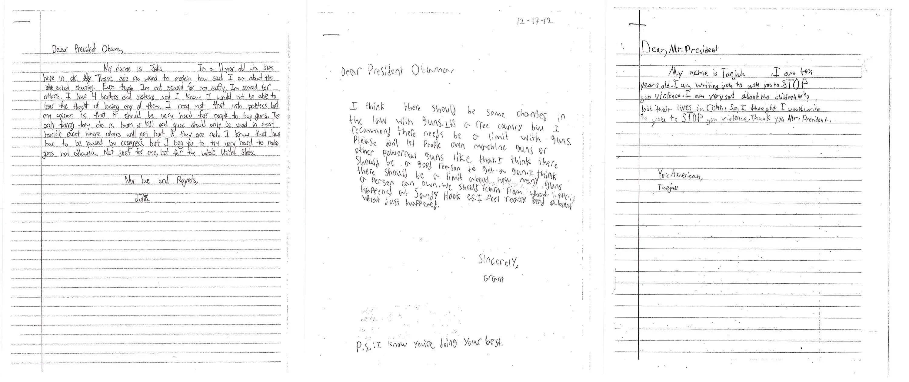 Here Are The Letters Kids Wrote To Obama Asking For New