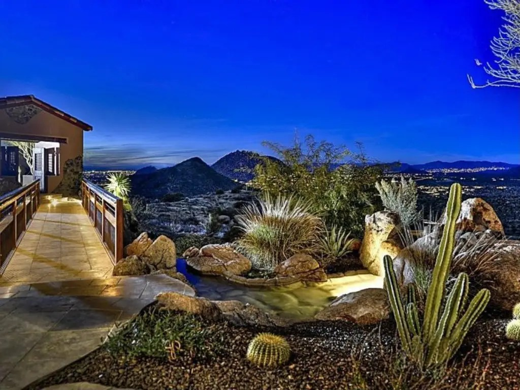 Scottsdale, AZ: $5 million will buy an 8,000-square-foot home on a three-acre lot with amazing panoramic views, a pool, and water and fire features.