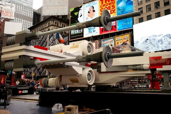 Massive Star Wars Lego X-wing Landed In Times Square