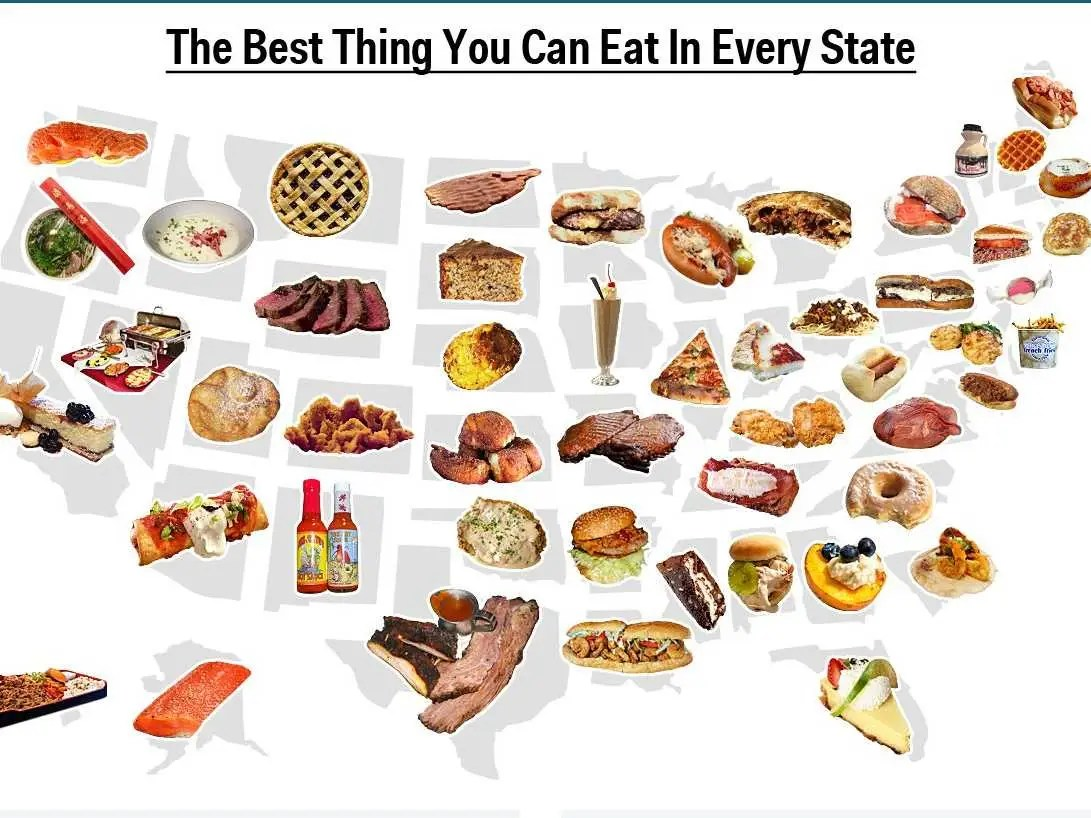 Map The Best Food You Can Eat In Every State