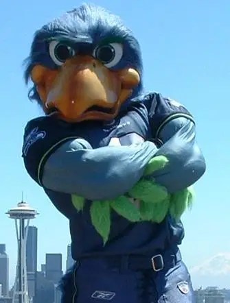 This Microsoft Exec Is Also The Seattle Seahawks Mascot Blitz  Business Insider