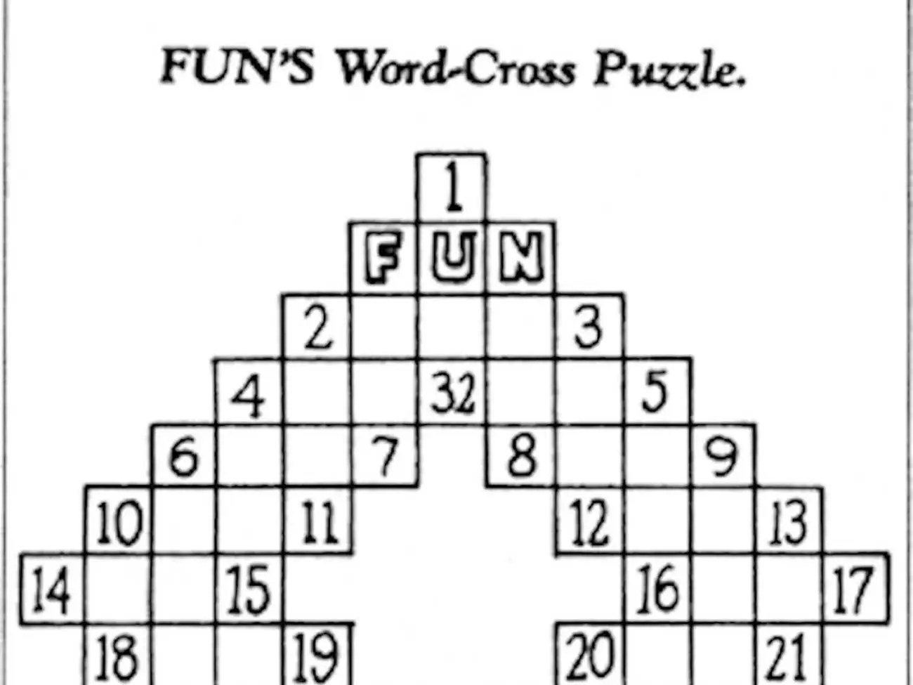 Here's The First Crossword Puzzle That Ran 100 Years Ago
