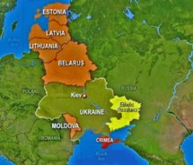 Eastern Europe Russia and Crimea Map