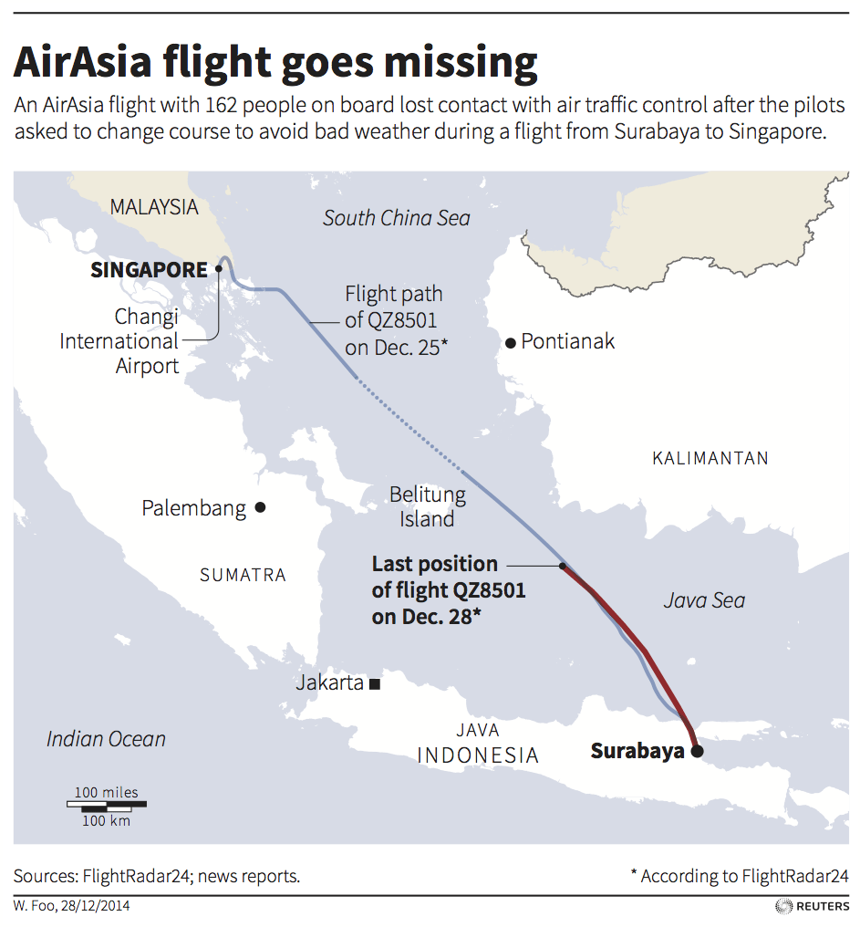 AirAsia plane map