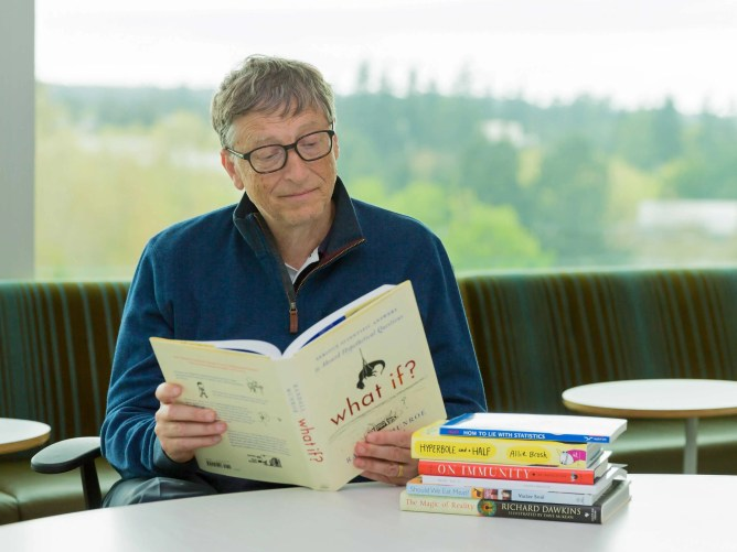 Image result for bill gate read book