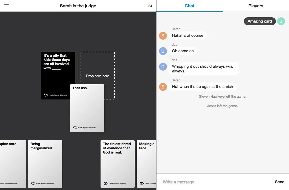 You Can Now Play Cards Against Humanity Online For Free On
