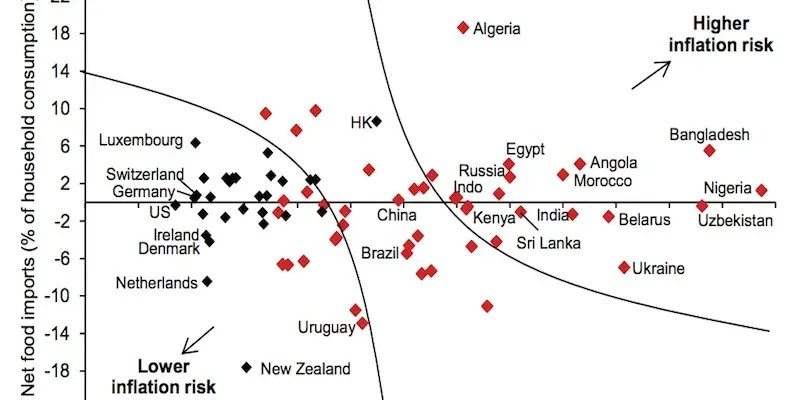 How food prices impact inflation in different economies