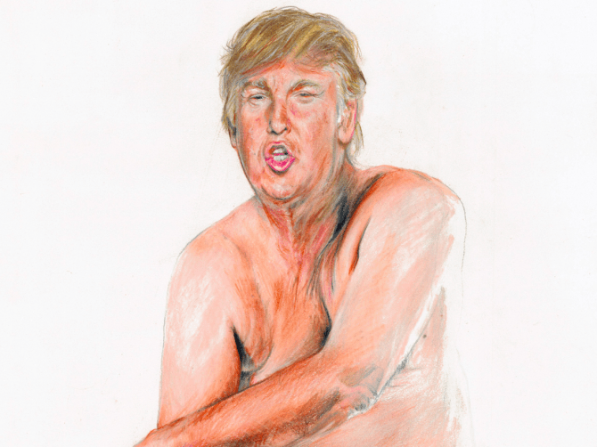 Donald Trump portrait