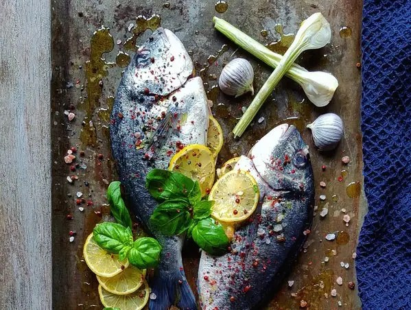 Salt-cured meat or fish and pickled foods