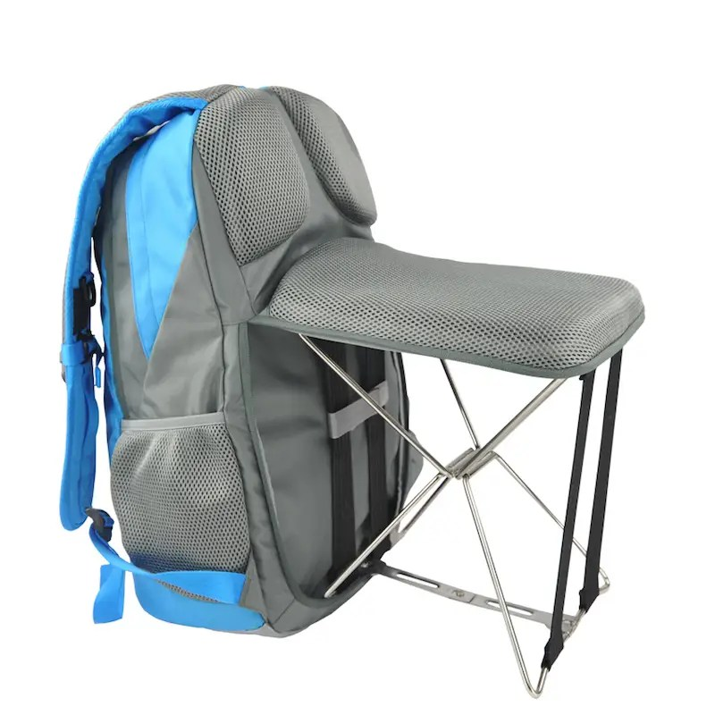 This backpack with a folding chair built in is the
