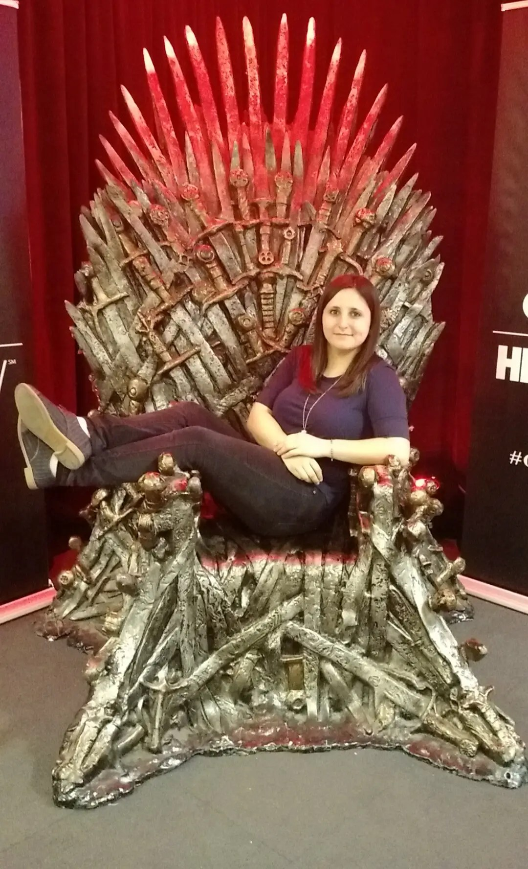 iron throne chair atlanta recliner i sat on the actual from 39game of thrones