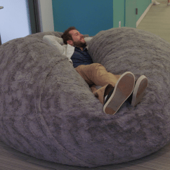 Chair Pillows For Bed Revolving Computer The Internet Is Losing Its Mind Over This Gigantic Fluffy