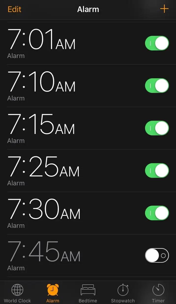 I Want Set My Alarm Clock