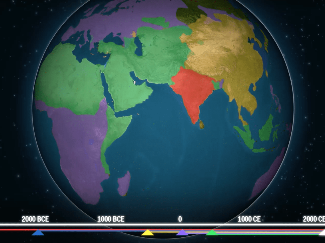 Mesmerising Maps Show How Religion Has Spread Throughout The World