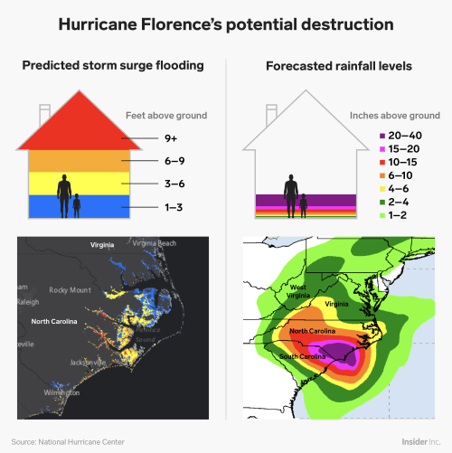 small resolution of update hurricane florence potential destruction infographic