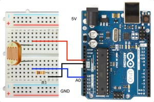 Hookup | Wire up | Arduino to Light Dependent PhotoResistor (LDR)