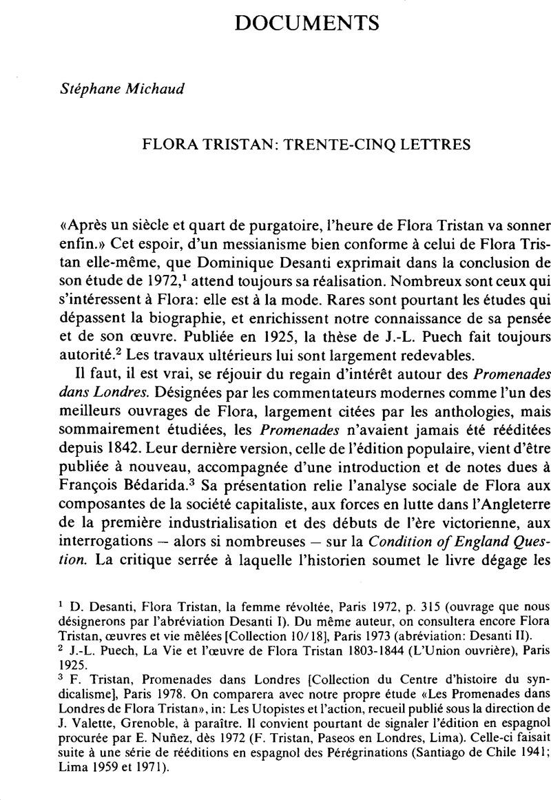 Fit Naitre En 8 Lettres : naitre, lettres, Flora, Tristan:, Trente-Cinq, Lettres, International, Review, Social, History, Cambridge