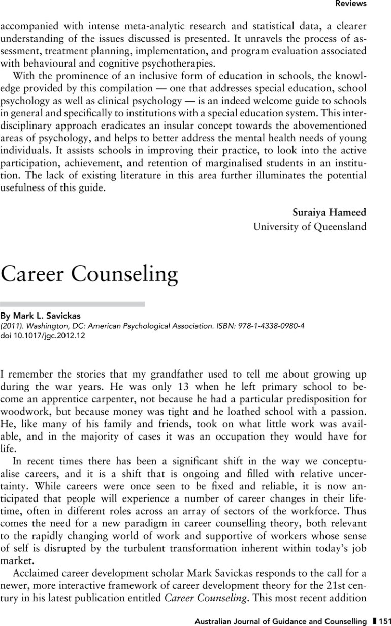 Career Counseling Cape Cod