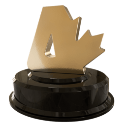 [Render of Canadian Atheist 2019 award statuette]