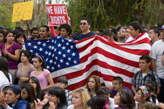 Protesta Inmigrantes SB 1070 foto:AP