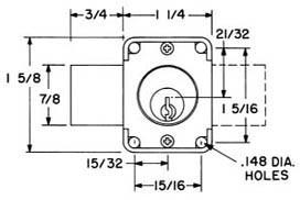 Olympus Lock 100DR N-Series Cabinet Door Deadbolt Lock